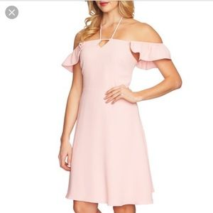 CeCe Blush Flutter Strap Dress
